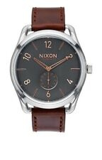 NEW NIXON C45 LEATHER GRAY/ROSE GOLD A465 2064