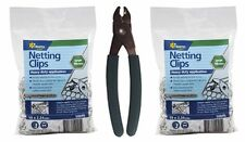 1 x C Clip PLIERS & 2 x 500 Packs 19mm Fencing CLIPS for Hingejoint & NETTING