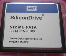 SiliconDrive WD PATA 512MB COMPACT FLASH CF CARD 512 MB SSD-C51MI-3500