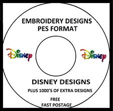 DISNEY EMBROIDERY DESIGNS, PES FORMAT BUY ANY 2 CDS & GET A FREE FONT CD