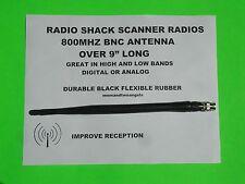 800 Mhz Scanner Radio Antenna For Radio Shack Digital Analog Scanner Radios Bnc