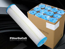 """12 Big Blue 20""""  x 4.5"""" Pleated Sediment Water Filter 5 micron Washable Reusable"""