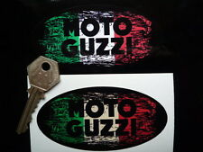 MOTO GUZZI Italian Tricolore STICKER 100mm Distressed Graffiti Retro Vintage