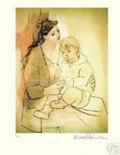 Pablo Picasso Mother With Child Hand Signed Limited Edition  with COA