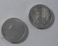 DDR 1 Pfenig Münze Prägedatum 1952 aus Aluminium -gebraucht