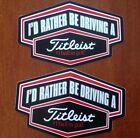 2 Titleist Stickers -