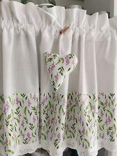 Scheibengardine Lavendel Bistro Kurzgardine Küche 180 cm breit 45 cm hoch
