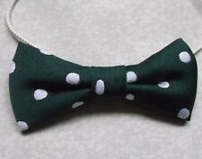 Boys Bow Tie Elasticated Bowtie UNISEX Boy Girl GREEN POLKA DOT
