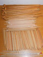 LOT AIGUILLE à TRICOTER BOIS knitting needle TRICOT knit Stricknadel WOOD HOLZ