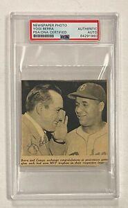 Yogi Berra Signed Newspaper Cut Photo Autograph PSA/DNA AUTO Yankees HOF