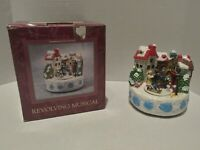 1995 Vintage Christmas Revolving Musical Choir In Box
