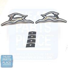 1970-72 Impala OE Factory Metal Door Panel Chrome Emblems - Pair