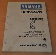 Yamaha Marine 4AC 4AS 5C 5CS Aussenbordmotor Outboards Werkstatthandbuch