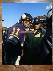 NFL Minnesota Vikings Coach Bud Grant & QB Joe Kapp Color 8 X 10 Photo Picture