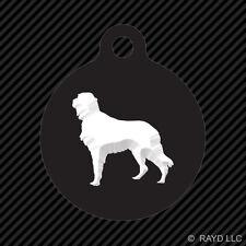 Irish Setter Keychain Round with Tab dog engraved many colors dog canine pet