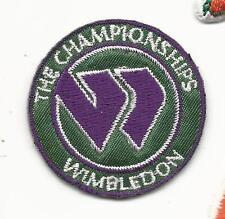 "Wimbledon The Championships Round 1 1/2"" Iron on Tennis Patch"
