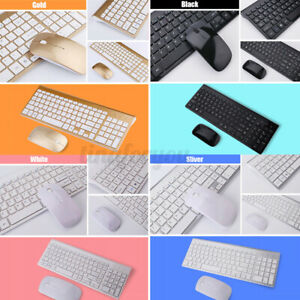 2.4G Mini Wireless Slim Keyboard and Mouse set For laptop Desktop PC Multicolo