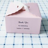 25x Pink Paper Boxes Favour Boxes 1st Birthday Personalised Thank You Gift Boxes