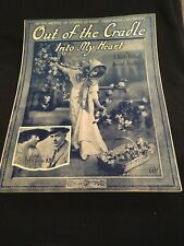 Vintage Sheet Music - Out of The Cradle, Into My Heart, 1916 Gilbert/ Friedland