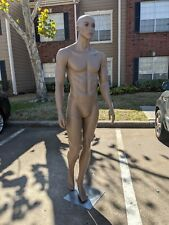 Male Full Body Realistic Plastic Mannequin with Metal Base