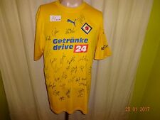 "Eintracht Braunschweig Puma Trikot 08/09 ""Getränke drive24"" + Handsigniert Gr.M"