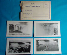 Lot of 4 Real Photo Snapshots C 1940s Niagara Falls Canada Brink Basin Small 4""