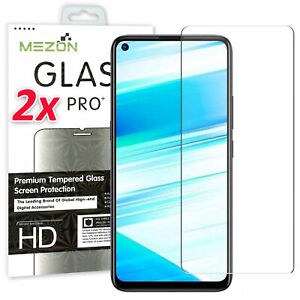 [2 Pack] OPPO A72 Tempered Glass 9H HD Premium Screen Protector by MEZON