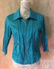 Ruby Rd Women's Jacket Lightweight Turquoise Size 6 Petite