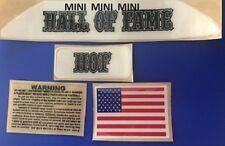 Hall of Fame VSR4 (MINI) Football Helmet Decals Bumper Set -  MINI-MINI-MINI