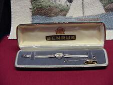 Vintage Benrus 14K White Gold Women's Watch Excellent Condition Original Case