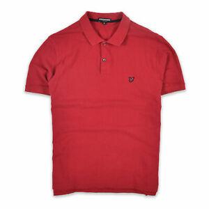 Lyle & Scott Herren Polo Poloshirt Shirt Gr.XL Heritage 100% Baumwolle Rot 91048