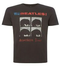 Meet The Beatles -  American Tour - Mens aged distressed t shirts