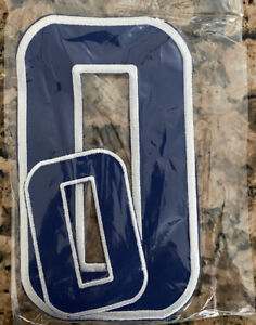 Iron on patch numbers  1 2 3 4 5 6 7 8 9 0 Blue