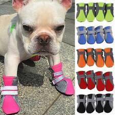 4Pcs Pet Puppy Dog Anti-Slip Breathable Shoes Boots Paw Protective Booties US UK