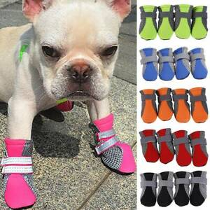 Pets Dogs Anti-Slip Shoes Socks Winter Keep Warm Puppy Mesh Boots Paw Protector