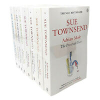 Sue Townsend Classics Collection Series Adrian Mole 8 Books Set Growing Pain NEW