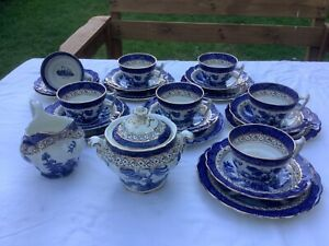 Vintage Booths Real Old Willow part tea-set, Made in England