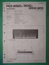 Original ROLAND Service Notes- RD-250s/300s Digital Piano