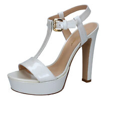 scarpe donna MI AMOR 38 EU sandali bianco vernice BY167-B