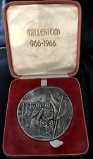 POLAND religious / Millenium / white medal with original box 80 mm,159 gr N138
