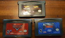 GAME BOY ADVANCE - Lot of 3 Games HotWheelsTrack-Cars-MonsterTrucks FREE Ship!