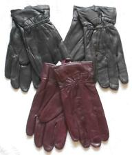 Womens 100% leather gloves available in black, brown or burgundy