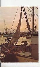 BF25575 bateaux ship de peche au coucher du soleil  france  front/back image