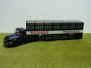 Camion IXO/ALTAYA - WILLEME LC 310 - SEMI-REMORQUE BUTAGAZ-PROPAGAZ - 1/43 ème