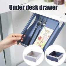 Self Adhesive Under Desks Drawer Hidden Organizer Storages Box Holder Stationery