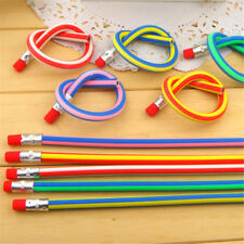 5pcs Colorful Magic Bendy Flexible Soft Pencil w/ Eraser Gift Kids Study Writing
