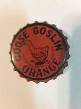 GOOSE GOSLIN ORANGE Soda Pop BOTTLE CAP Cork Lined Baseball Washington Senators