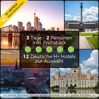 3 Tage 2P Leipzig Goslar Stuttgart Halle 4★ H+ Hotels Kurzurlaub Reisegutschein