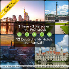 3 Tage 2P Leipzig Oberhof Magdeburg Halle 4★ H+ Hotels Kurzurlaub Reisegutschein