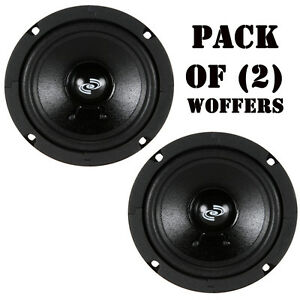 """Pair of PylePro PDMW5 5"""" High Performance Mid-Range Driver 100 Watts RMS 8 Ohm"""